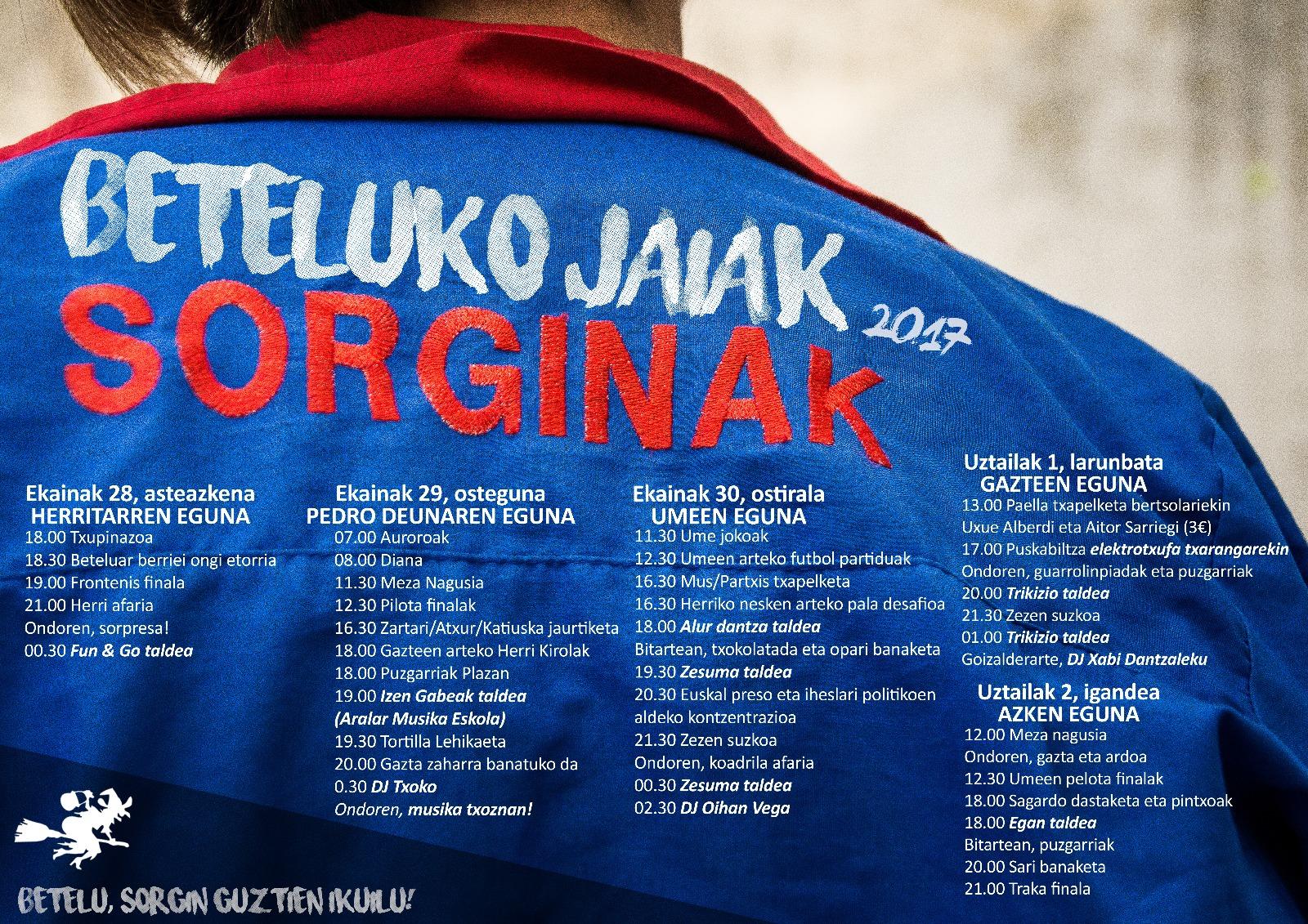 Beteluko Jaiak 2017